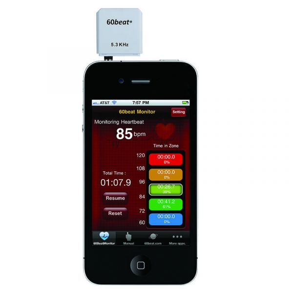 60beat Heart Rate RX Receiver/ Dongle für iPhone