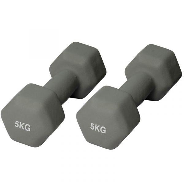 CARDIOfitness Gymnastikhanteln 5kg, Hantel-Set
