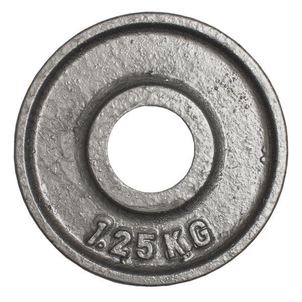 CARDIOfitness Olympia-Hantelscheibe Hammerschlag 50mm 1,25kg
