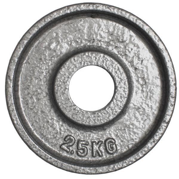 CARDIOfitness Olympia-Hantelscheibe Hammerschlag 50mm 2,5kg