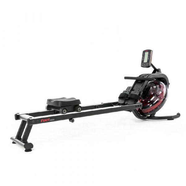 Das FUEL Fitness RG500 Wasserrudergerät mit 6-Widerstandsstufen, Ruder-Trainingscomputer, perferktem Zugverhalten und einem maximalem Beutzergewicht von 150kg ist ein hervorragender Water-Rower für daheim.