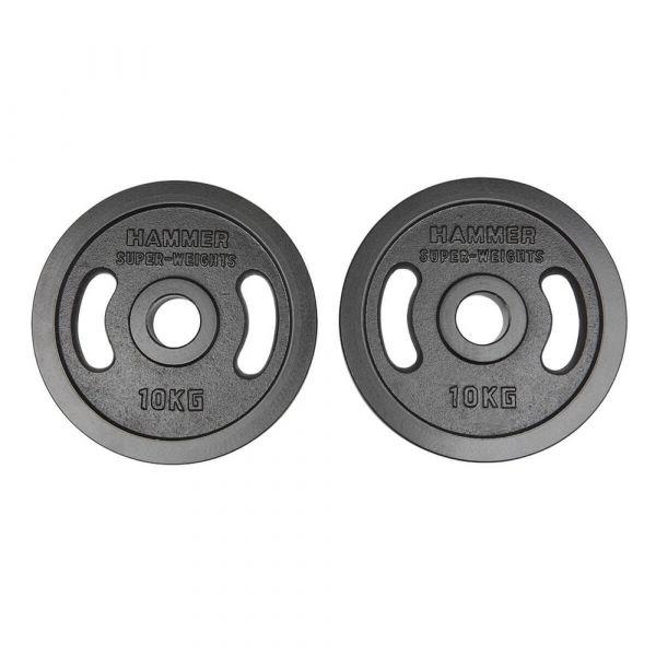 Hammer Olympische Gewichtsscheiben-Paar 2x 10kg
