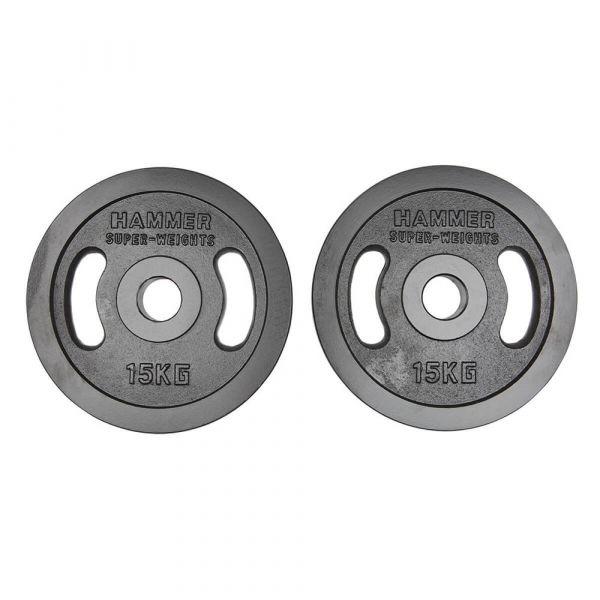 Hammer Olympische Gewichtsscheiben-Paar 2x 15kg