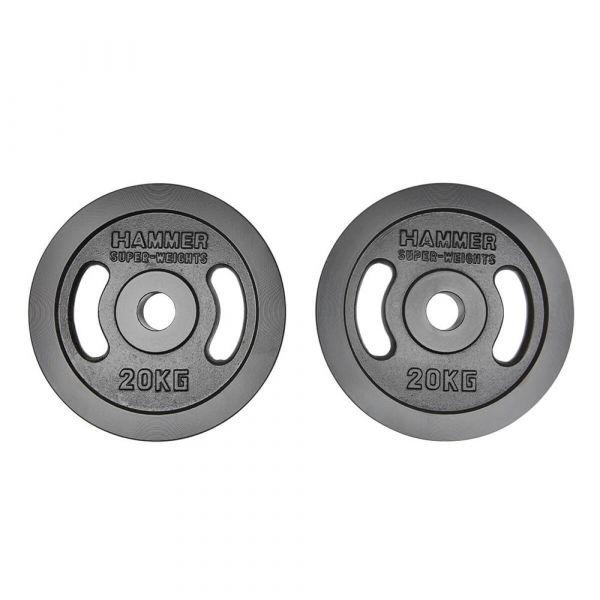Hammer Olympische Gewichtsscheiben-Paar 2x 20kg