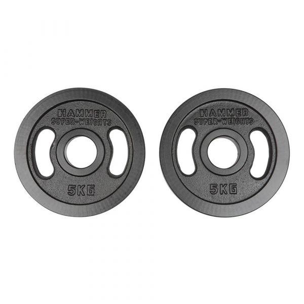 Hammer Olympische Gewichtsscheiben-Paar 2x 5kg
