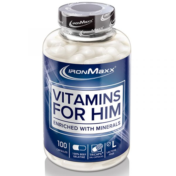 IronMaxx Mineralien Vitamins For Him 100 Kapseln á 1638mg