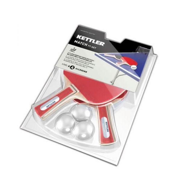 Kettler TT-Set Match, 2x Tischtennisschläger Kettler Match