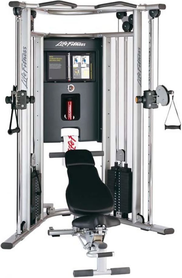 Life Fitness Kraftstation G7 inkl. Trainingsbank