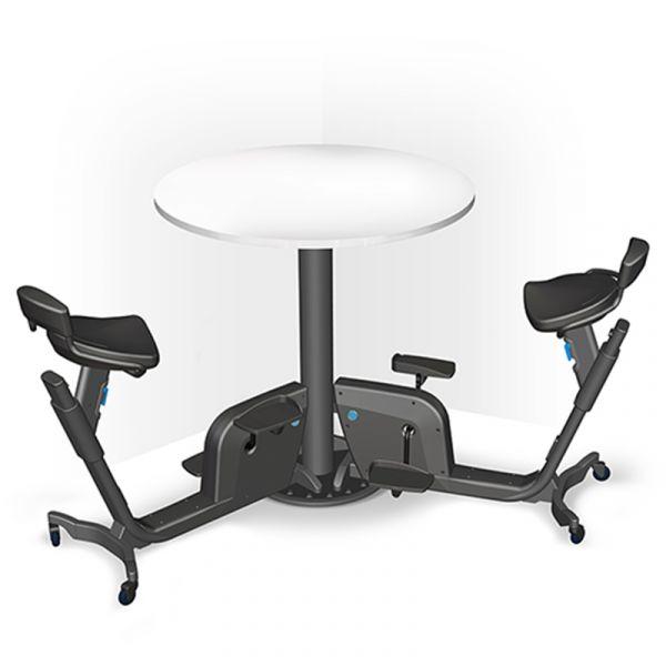 LifeSpan DUO Bike Table mit 2 Fahrrädern und Schreibtisch