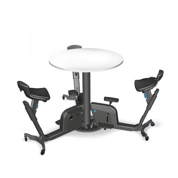 LifeSpan TRIO Bike Table mit 3 Fahrrädern und Schreibtisch