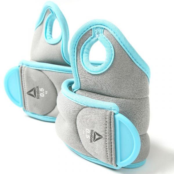 Reebok Gewichtsmanschetten Handgelenk, Paar 2x 0,5kg/ Farbe: Blau/Grau