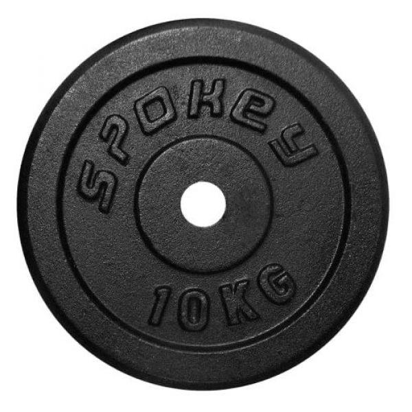 Spokey Gusseisen-Hantelscheibe 1x 10kg