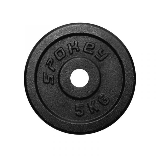 Spokey Gusseisen-Hantelscheibe 1x 5kg