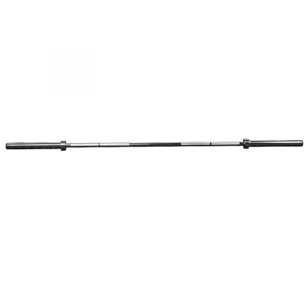 CARDIOfitness Olympia-Langhantelstange Pro 220cm, verchromt inkl. Clipverschlüsse