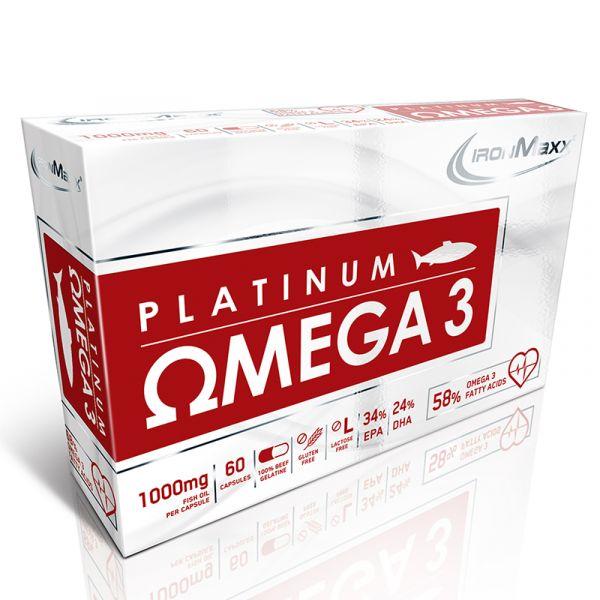 IronMaxx Mineralien Platinum Omega 3 Fettsäure 60 Kapseln