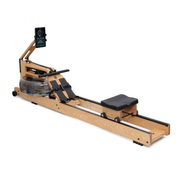 WaterRower Rudergerät Performance Ergometer Eiche inklusive SmartRow, Smartphone- und Tablethalter, XL-Schienen, Profi-Fuschlaufen und breitem Griff