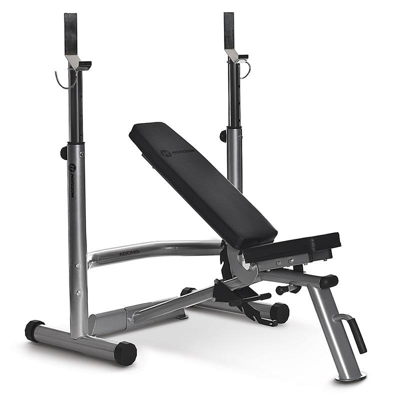 Horizon Fitness Adonis Plus Hantelbank mit Ablage