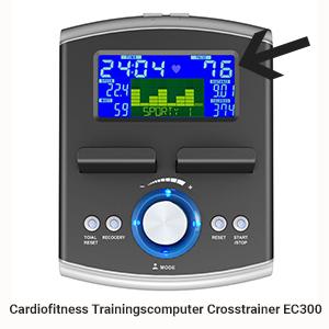 Optimaler Trainingspuls: Cardiofitness Trainingscomputer Crosstrainer EC300