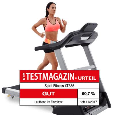 Optimaler Trainingspuls Spirit Fitness Laufband XT385