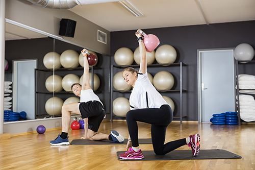 Cardiofitness Kettlebell-Training Turkish Get Up Übung