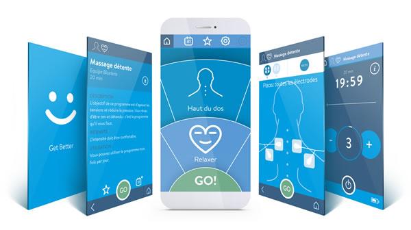 Bluetens TENS-Gerät Bluetens-App