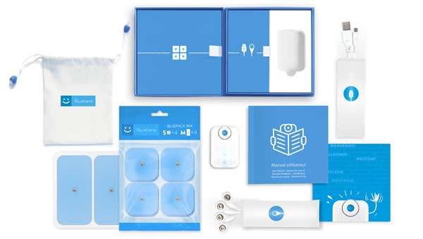 Bluetens TENS-Gerät Verpackunginhalt