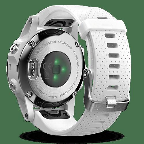 Garmin Fenix5S Saphir mit weißem Armband