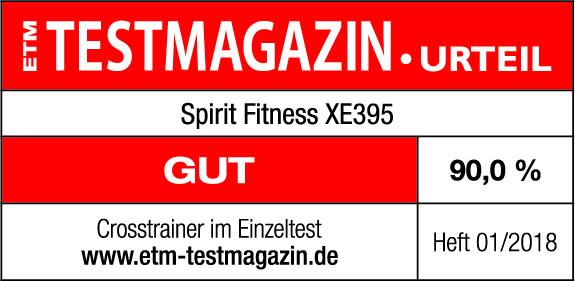 Crosstrainer Test Spirit Fitness XE395 (ETM Testmagazin, Heft 01/2018 - 14. Jahrgang/Nr. 149)
