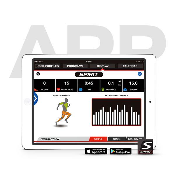 SpiritFit APP Fitness- und Lauf-App für das Laufband XT485