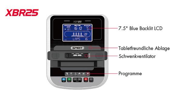 Spirit Fitness XBR25 Liege-Ergometer