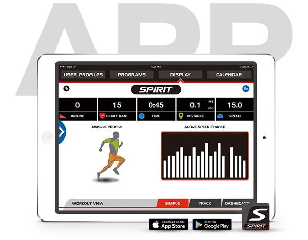 Spirit Fitness XBU55 SpiritFit App