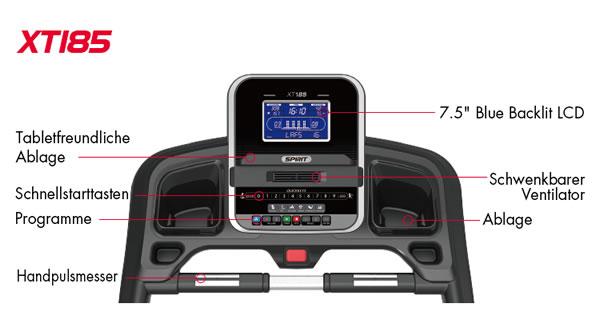 Spirit Fitness Laufband XT185 Trainingscomputer