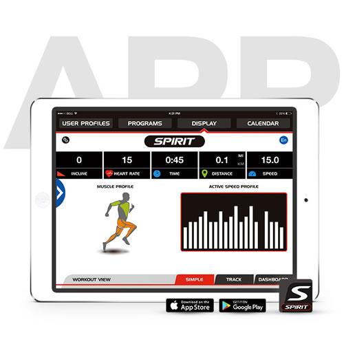 Spirit Fitness XT385 Laufband Trainings App